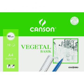 Papel Vegetal A4 90/95 gramos 12 hojas Minipac Canson