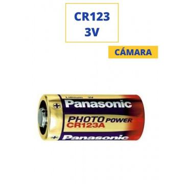 PILA PANASONIC ALKALINA CR123 3V. (CAMARA)