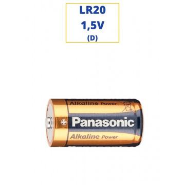 PILA PANASONIC ALKALINA LR20 1,5V. (D)