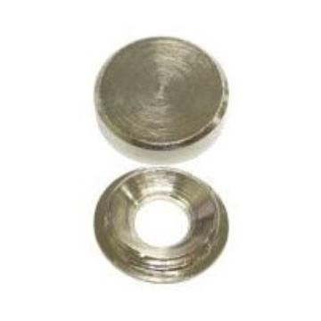 EMBELLIDOR ROSCA PLATA BRILLO 14 mm (4u)