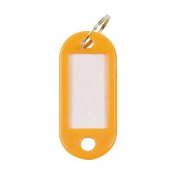 Llavero portaetiquetas color naranja 100 un.