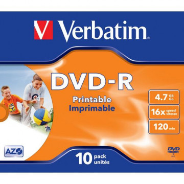 DVD -R 4,7GB 120 MIN. PRINTABLE (BOBINA 25u.)
