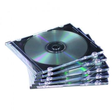CAIXA BUIDA CD'S (CAP. 1 CD) SLIM IMATION