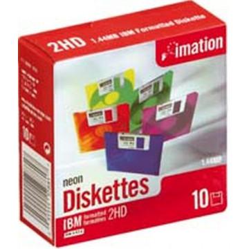 """DISKETTE 3"""" 1/2 NEON HD FORMATEJATS (10u.)"""