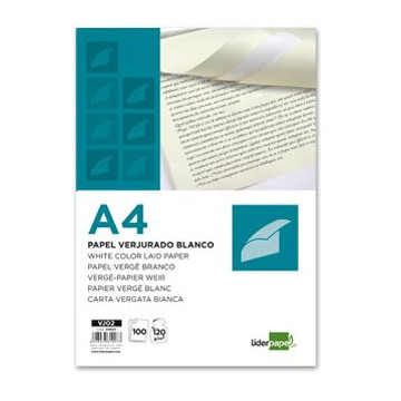 PAPER DIN A4 VERJURADO 100 GR. (100u) BLAU                 (ABO)